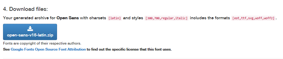 google fonts download local
